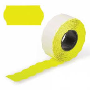 Етикет стрічка жовта 26х12 (UA)