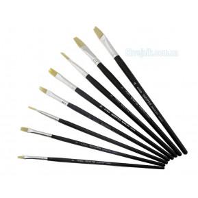 Пензлик плоский з чорною ручкою N10