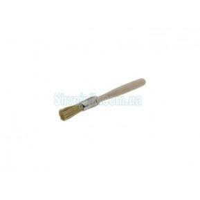 Пензлик для клею круглий дерев'яний короткий N2