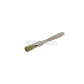 Пензлик круглий дерев'яний короткий N8