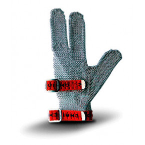 Кольчужна рукавиця 3 пала (червона) S33