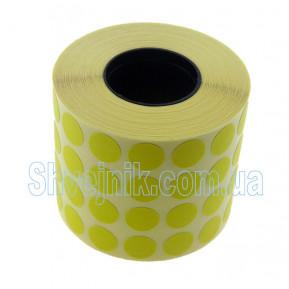 Самоклеючі етикетки круглі Ø10 мм жовті