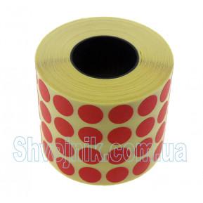 Самоклеючі етикетки круглі Ø10 мм червоні